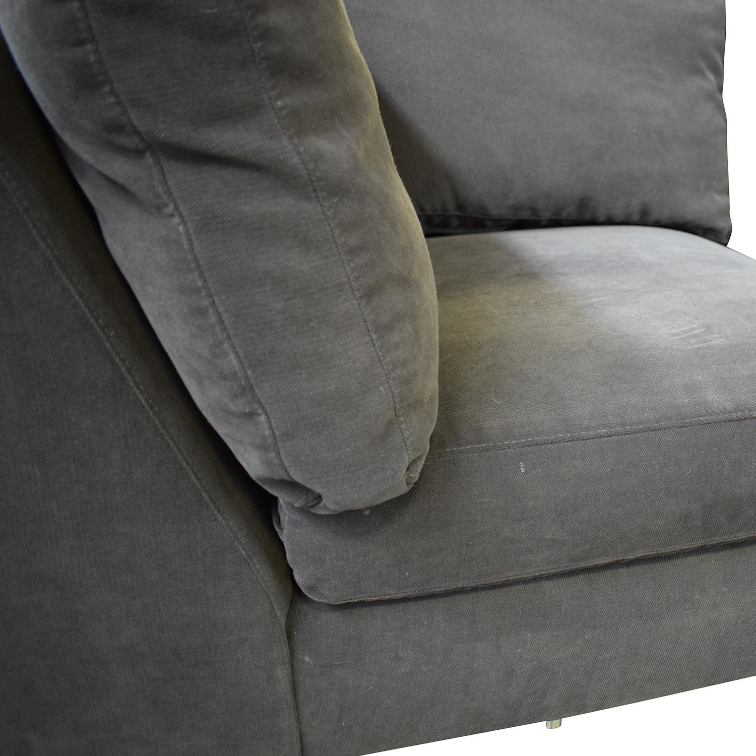 CB2 CB2 Charcoal Grey Sectional with Chaise dark grey