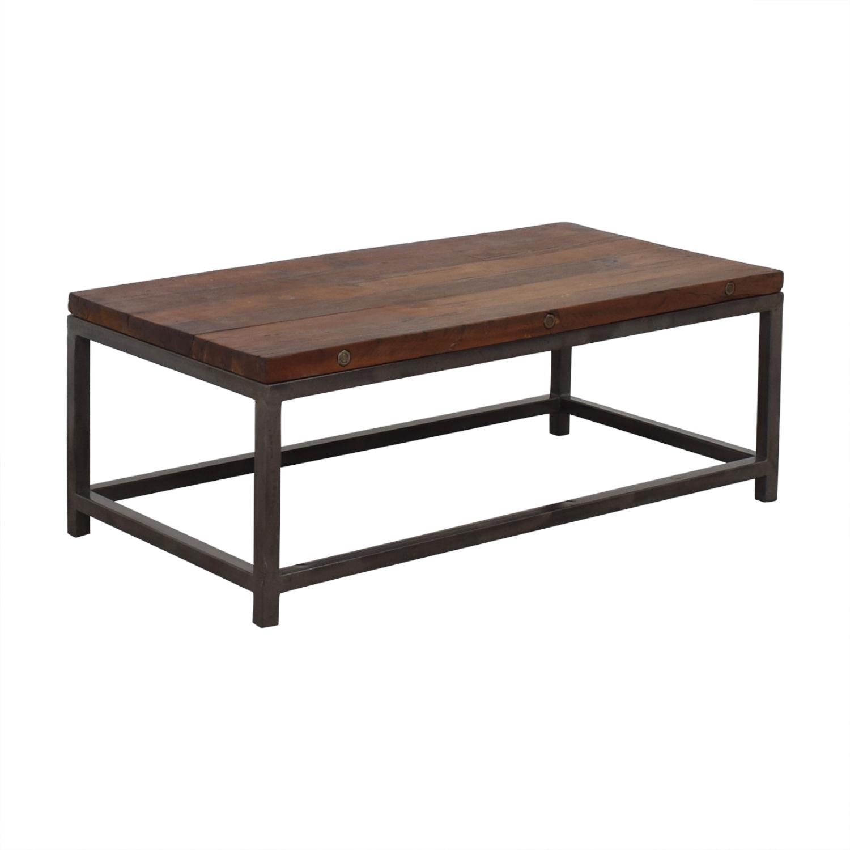 High Fashion Home High Fashion Home Oak Coffee Table discount