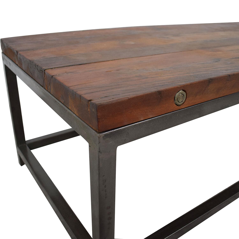 High Fashion Home High Fashion Home Oak Coffee Table dimensions