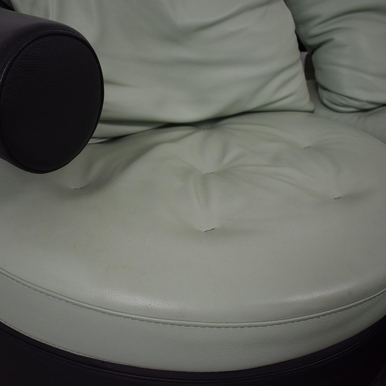 Formenti Swiveling Sofa with Matching Ottoman Formenti