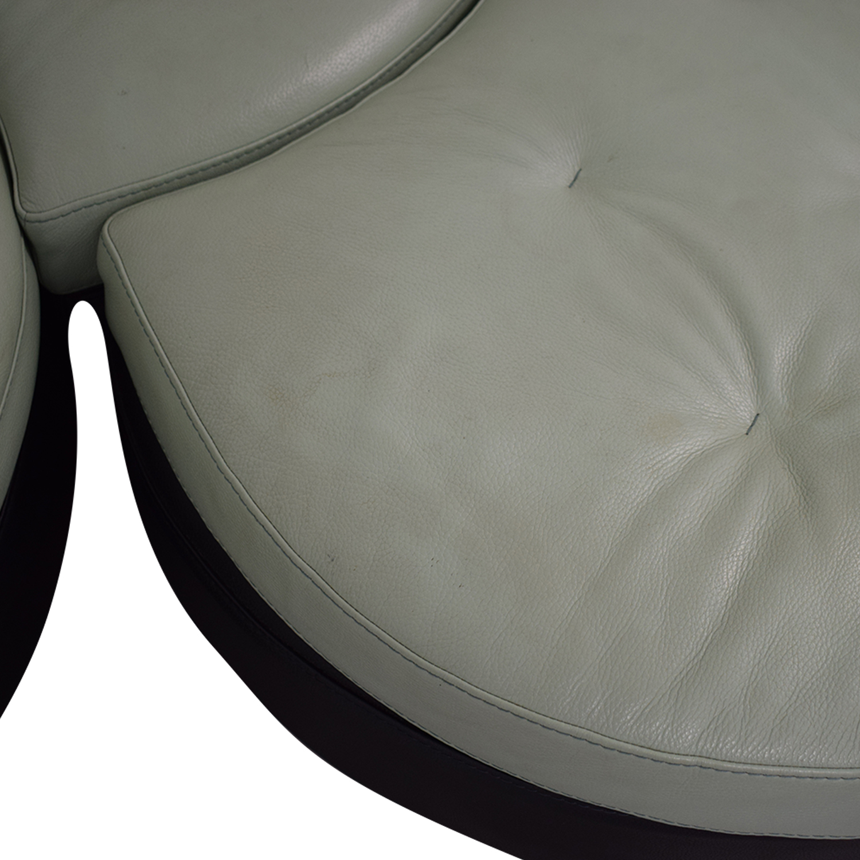 shop Formenti Swiveling Sofa with Matching Ottoman Formenti Sofas