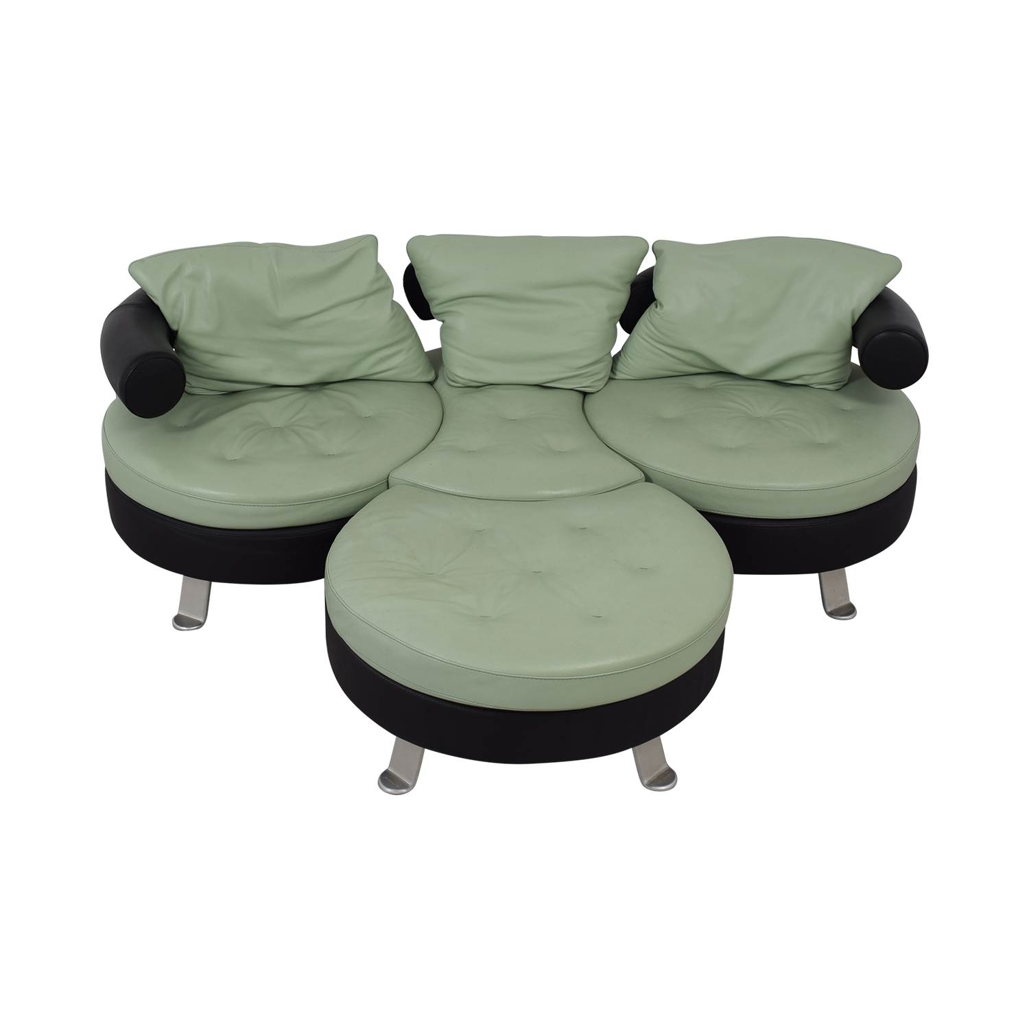 Formenti Swiveling Sofa with Matching Ottoman / Classic Sofas