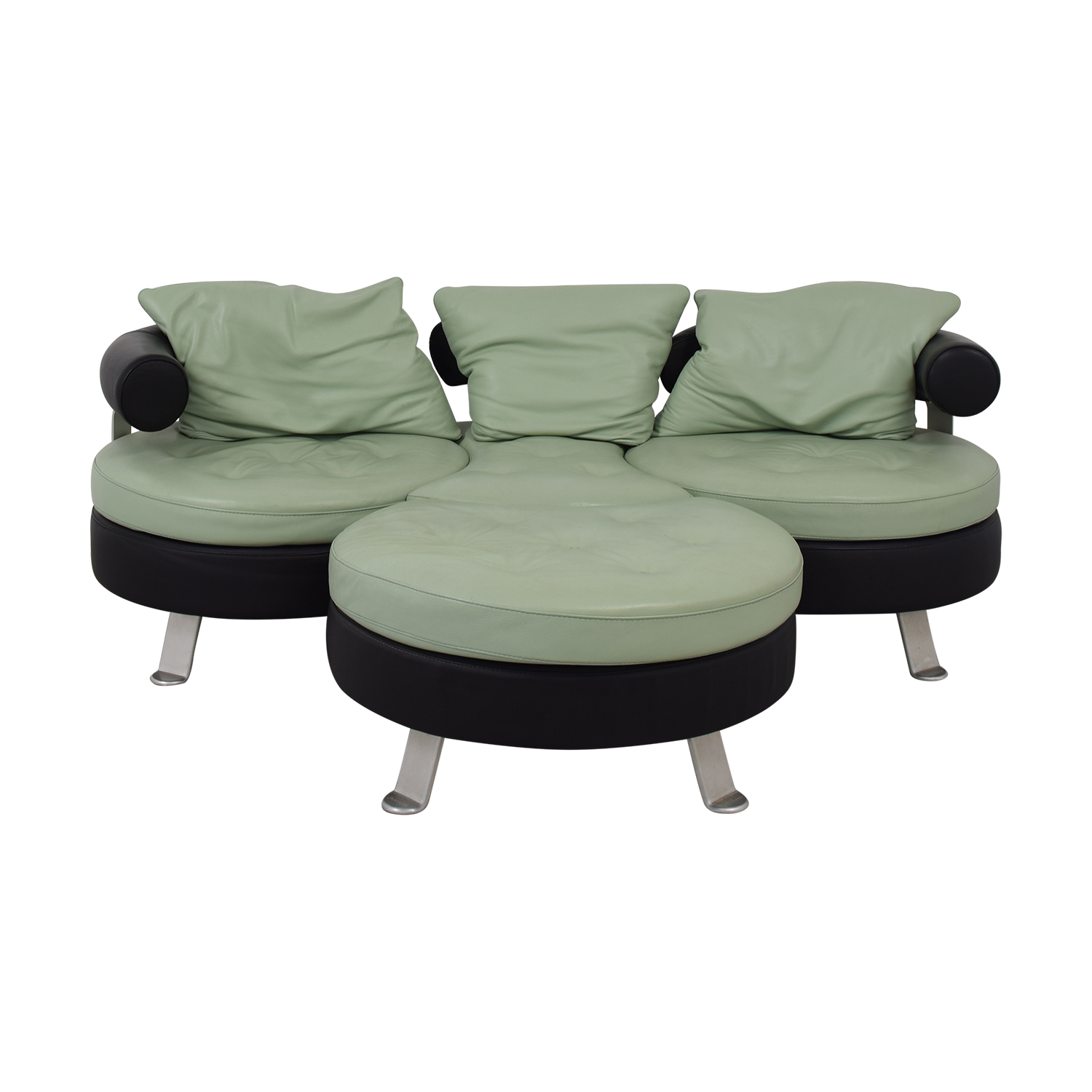 shop Formenti Formenti Swiveling Sofa with Matching Ottoman online