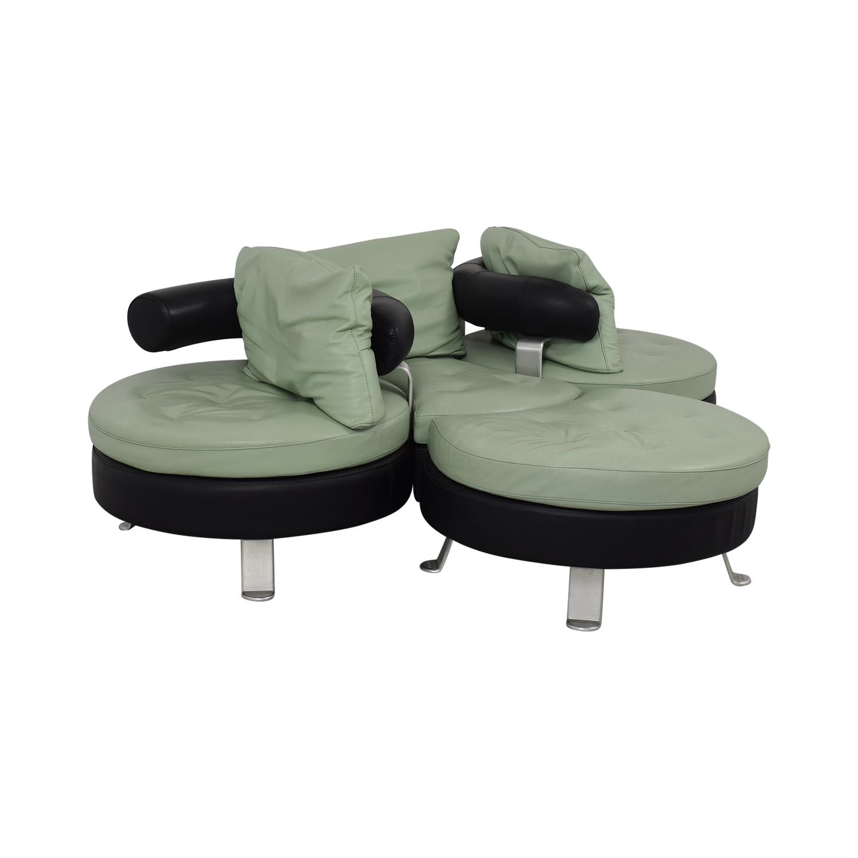 buy Formenti Swiveling Sofa with Matching Ottoman Formenti Sofas
