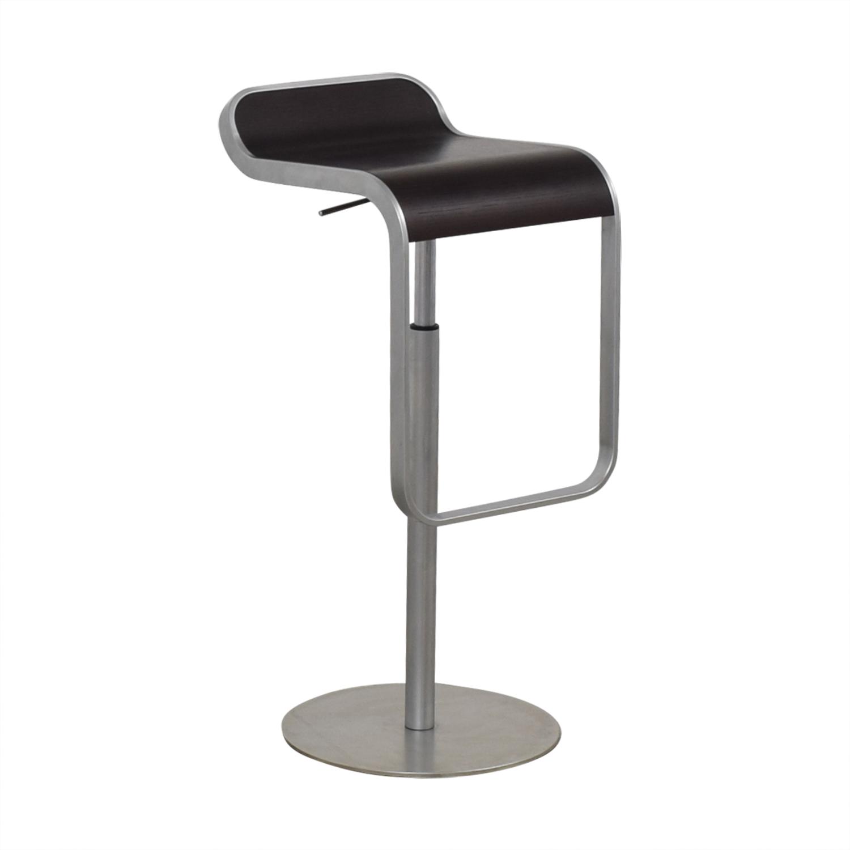 Design Within Reach Design Within Reach LEM Piston Stool dark brown & silver