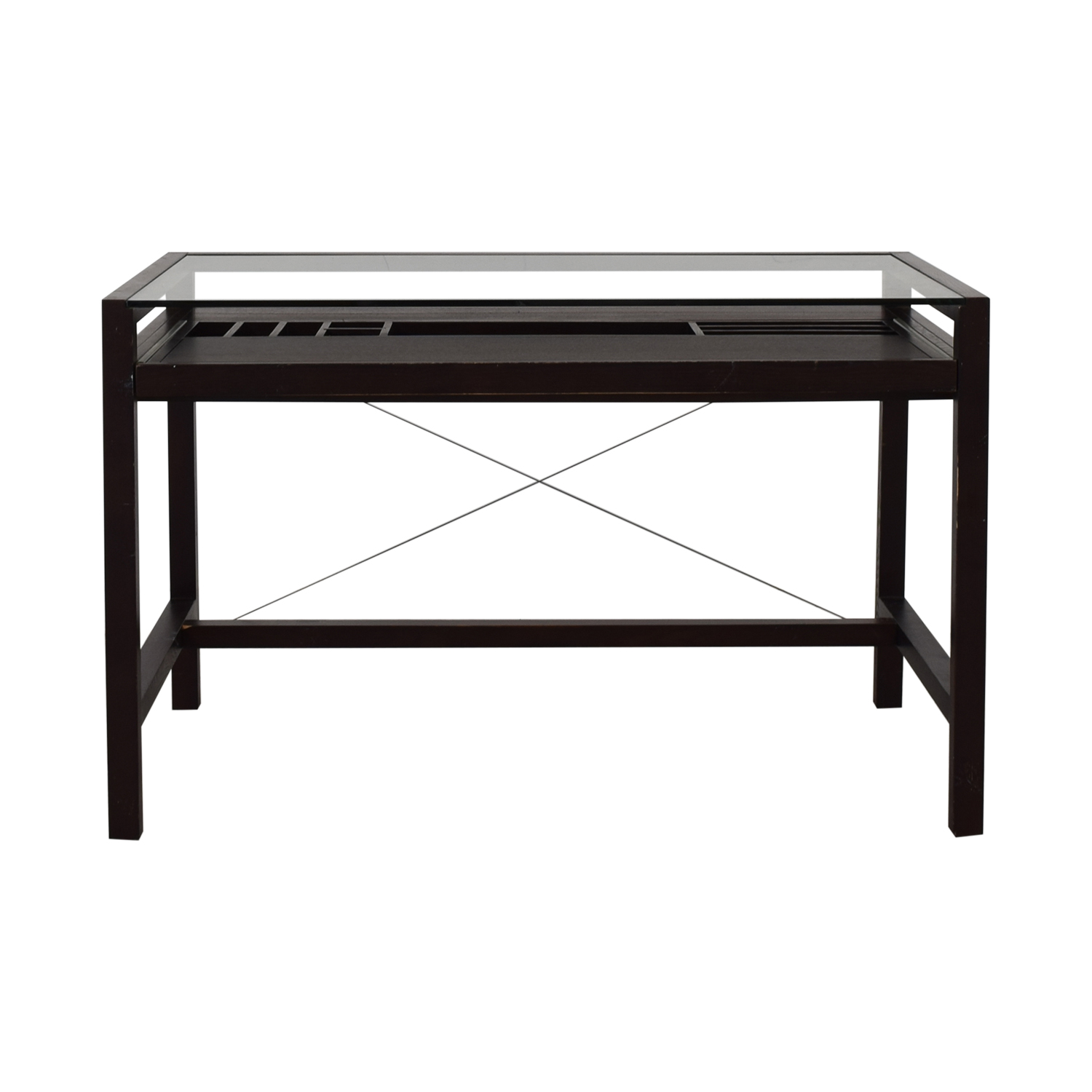 Crate & Barrel Crate & Barrel Glass and Wood Walker Desk on sale