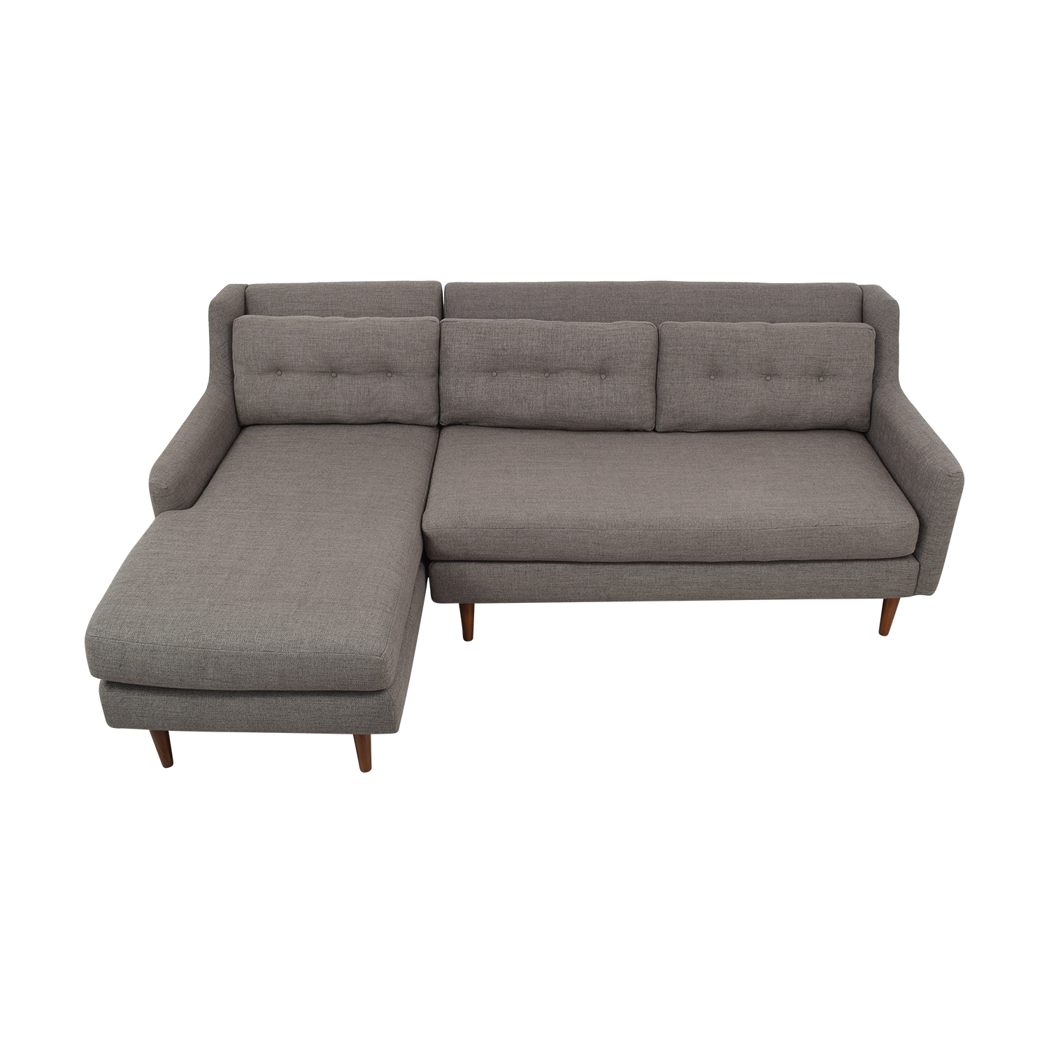 West Elm West Elm Crosby Two Piece Left Chaise Sectional Sofa price