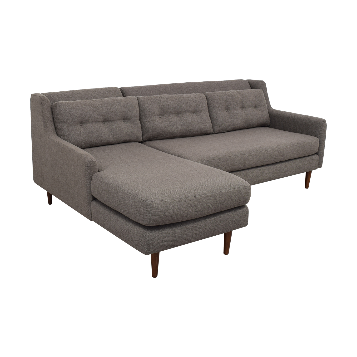 shop West Elm Crosby Two Piece Left Chaise Sectional Sofa West Elm Sectionals