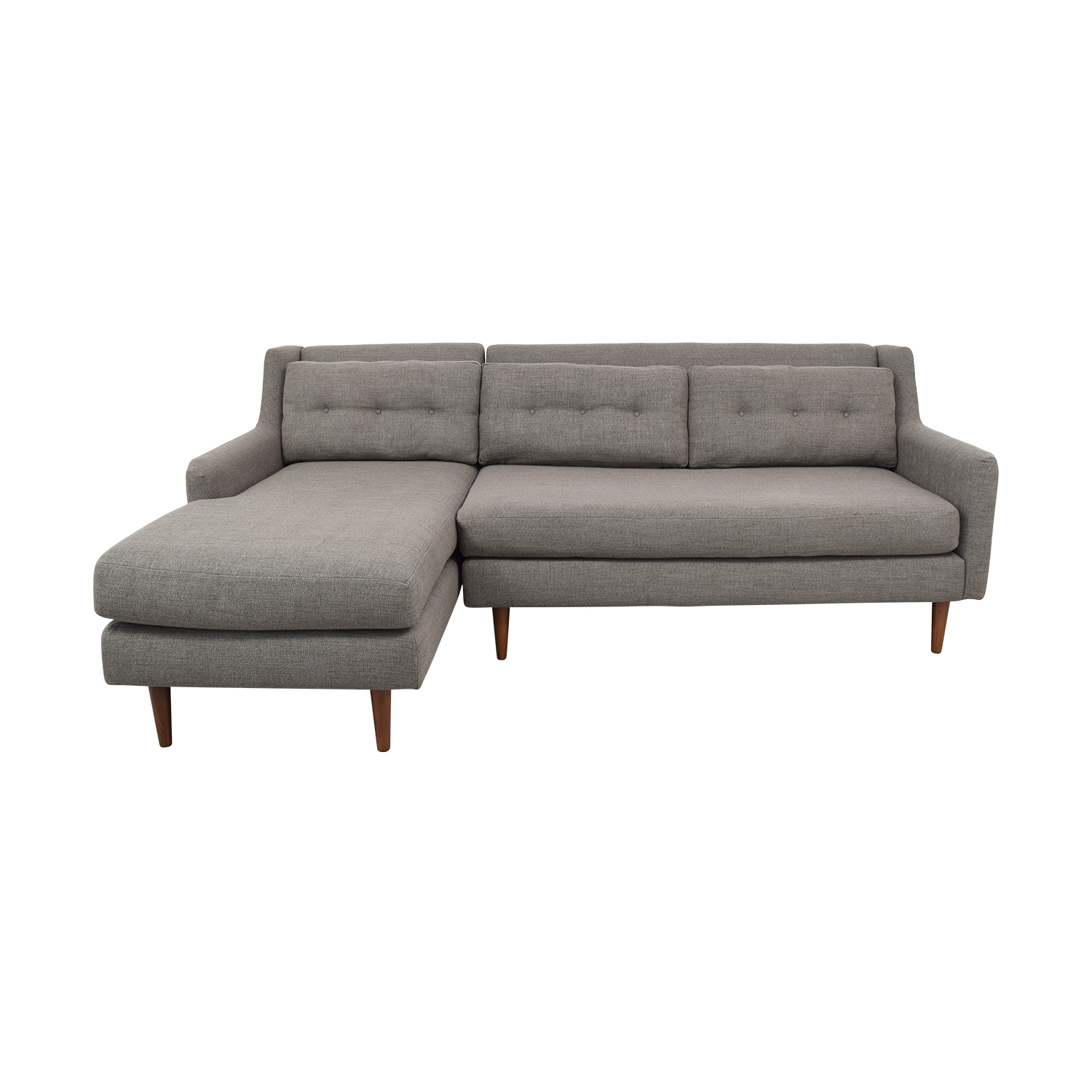 West Elm Crosby Two Piece Left Chaise Sectional Sofa / Sofas