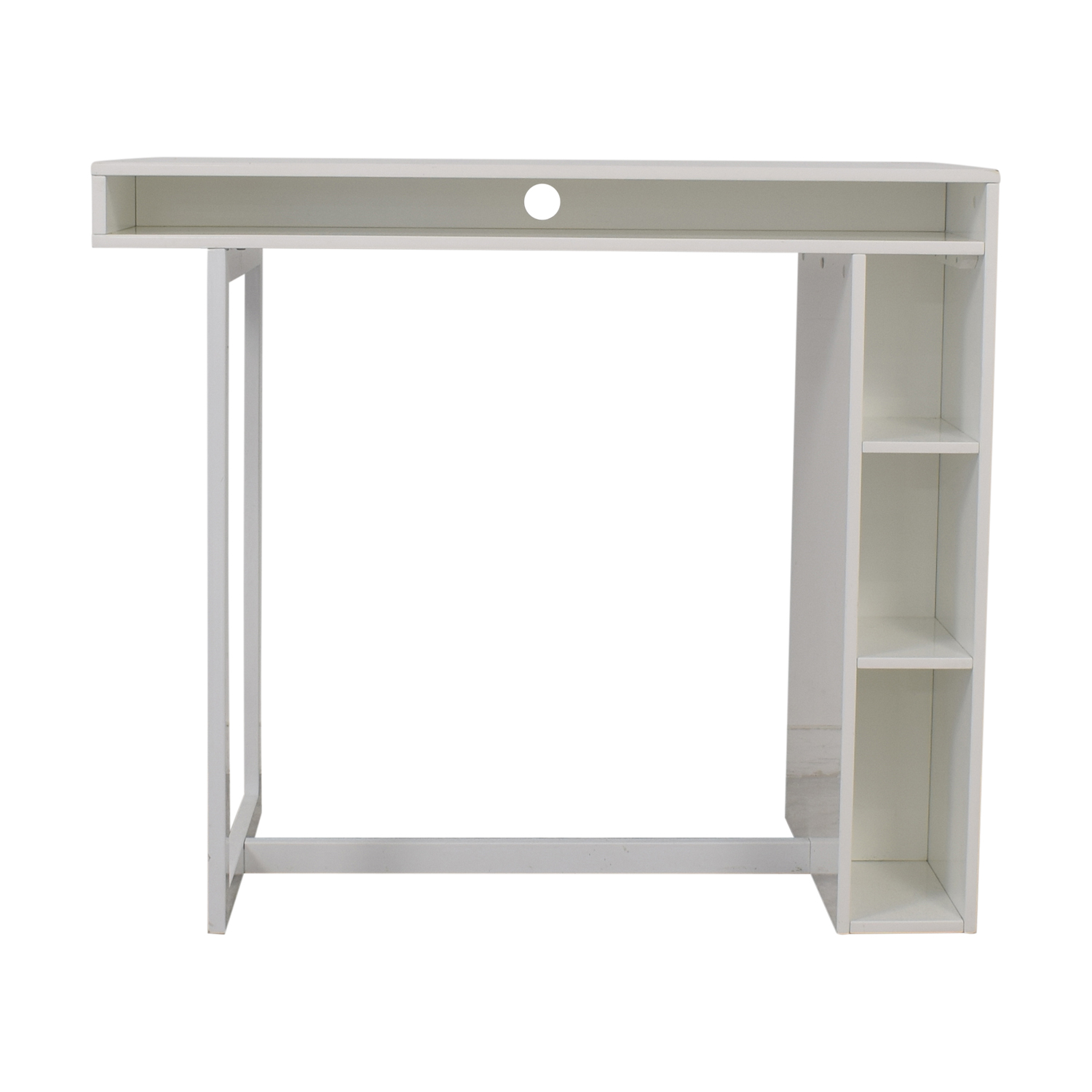 CB2 Public White Counter Dining Table CB2