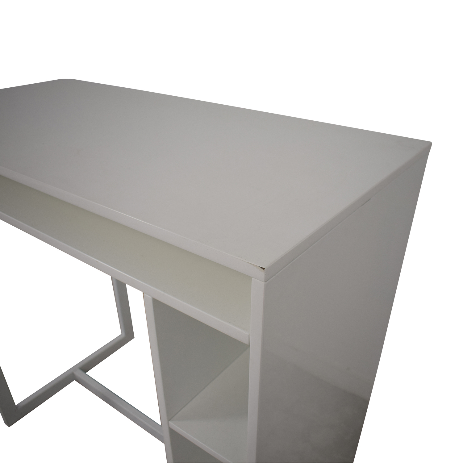 CB2 CB2 Public White Counter Dining Table white