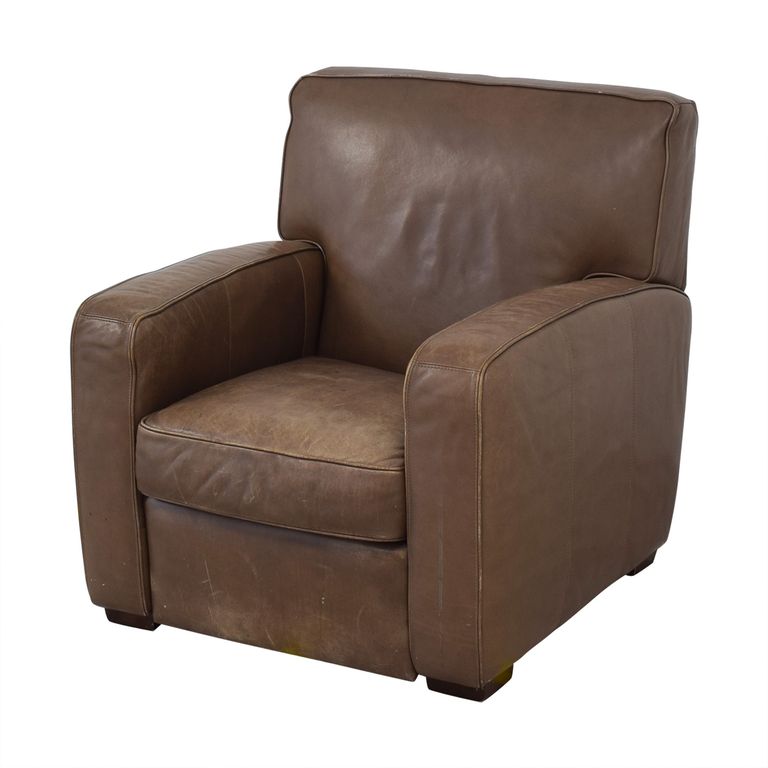 Crate & Barrel Crate & Barrel Leather Recliner Chair discount