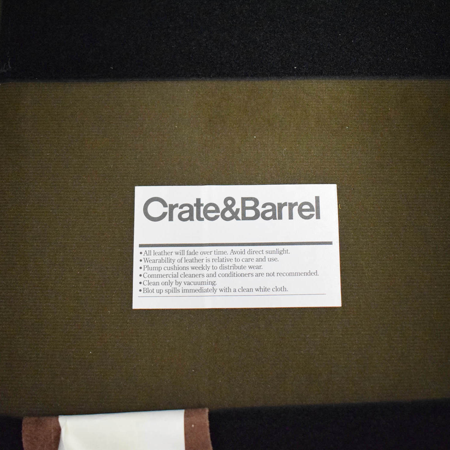 buy Crate & Barrel Leather Recliner Chair Crate & Barrel Recliners