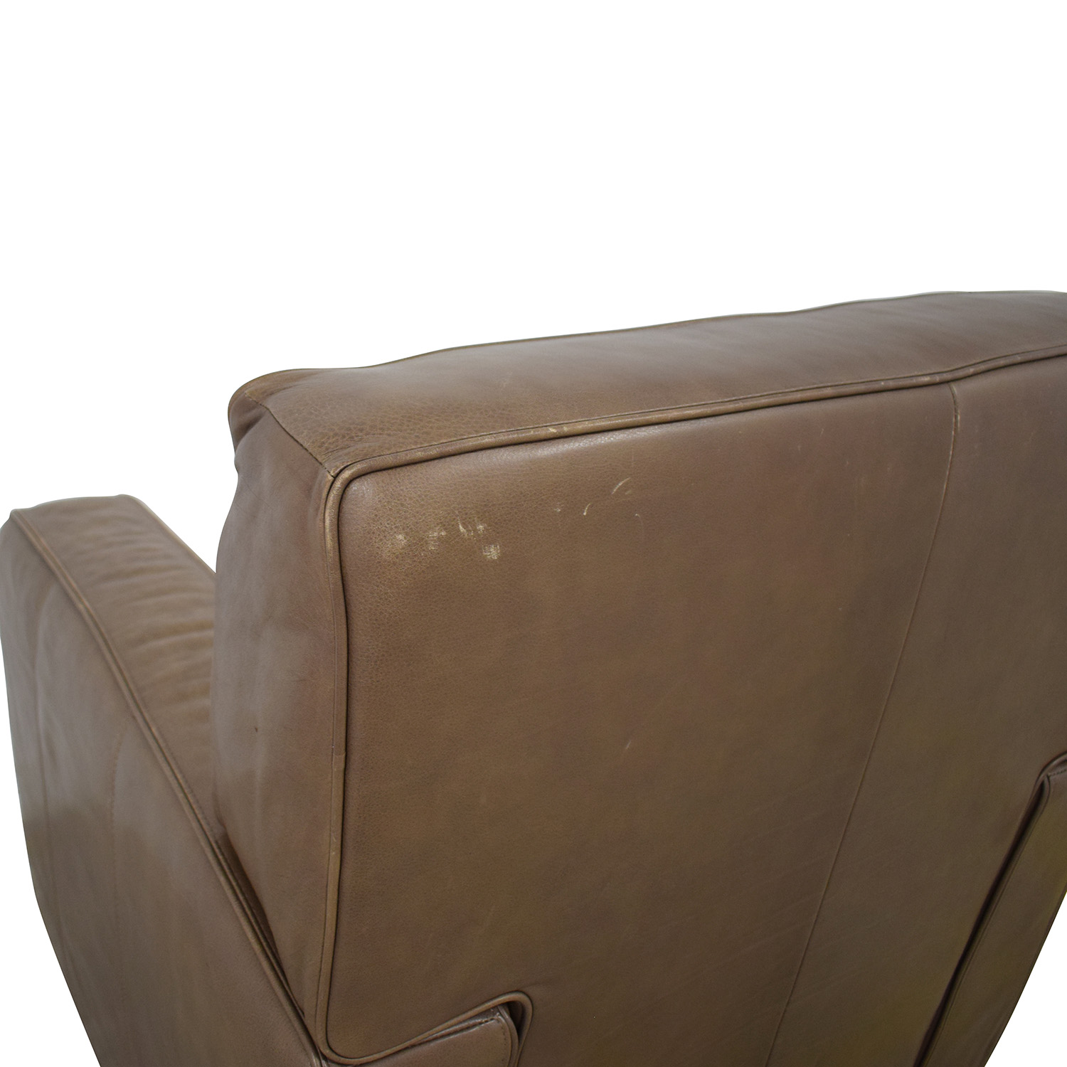 Crate & Barrel Crate & Barrel Leather Recliner Chair pa