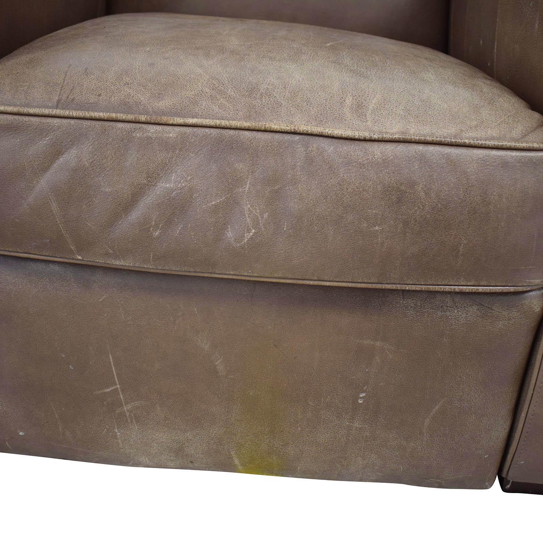 shop Crate & Barrel Leather Recliner Chair Crate & Barrel