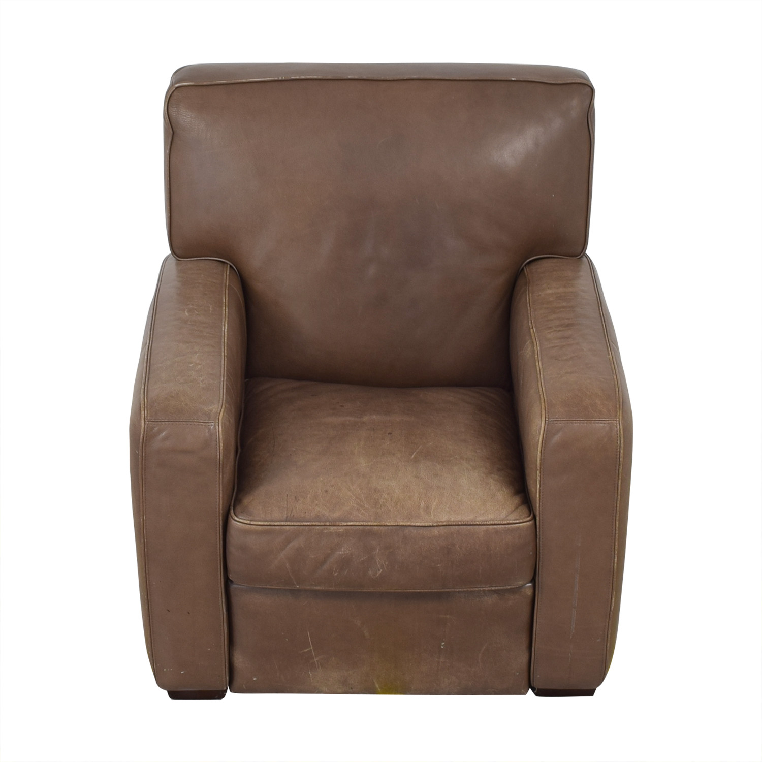 Crate & Barrel Leather Recliner Chair sale