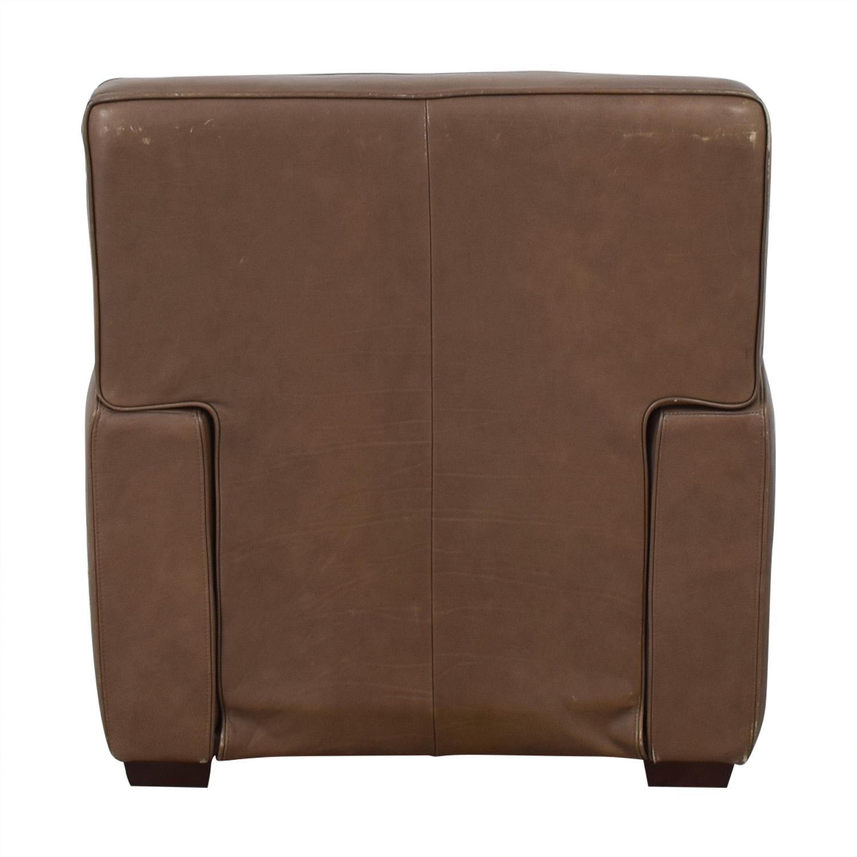 Crate & Barrel Crate & Barrel Leather Recliner Chair nj