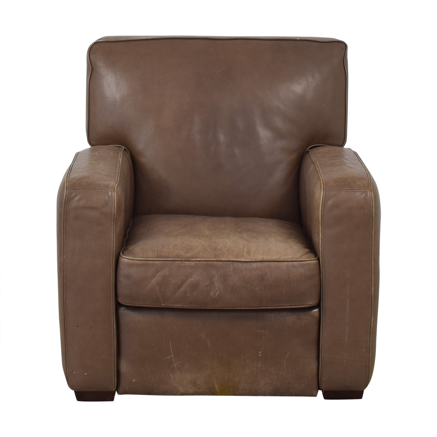 Crate & Barrel Crate & Barrel Leather Recliner Chair