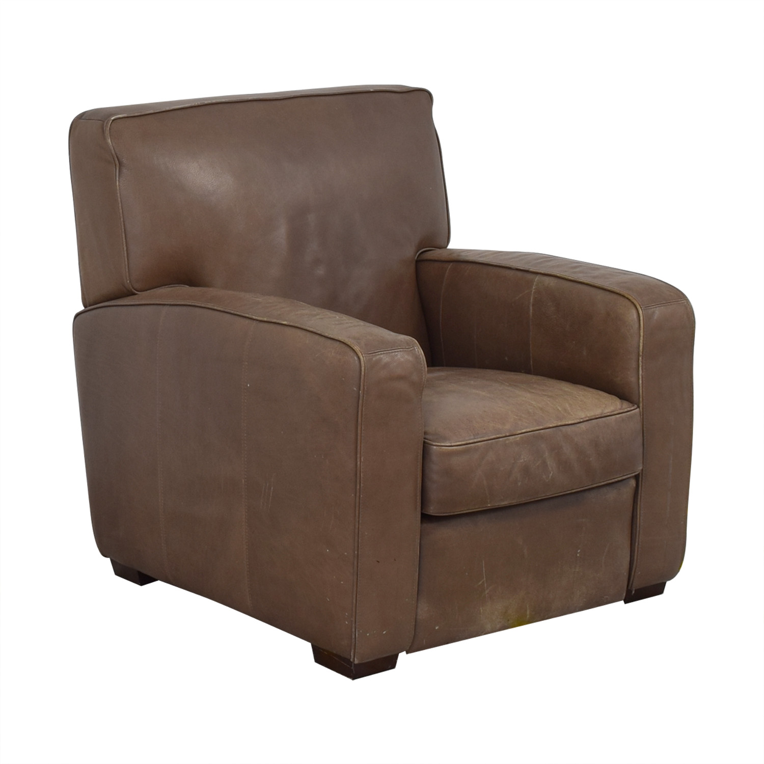 Crate & Barrel Crate & Barrel Leather Recliner Chair nyc