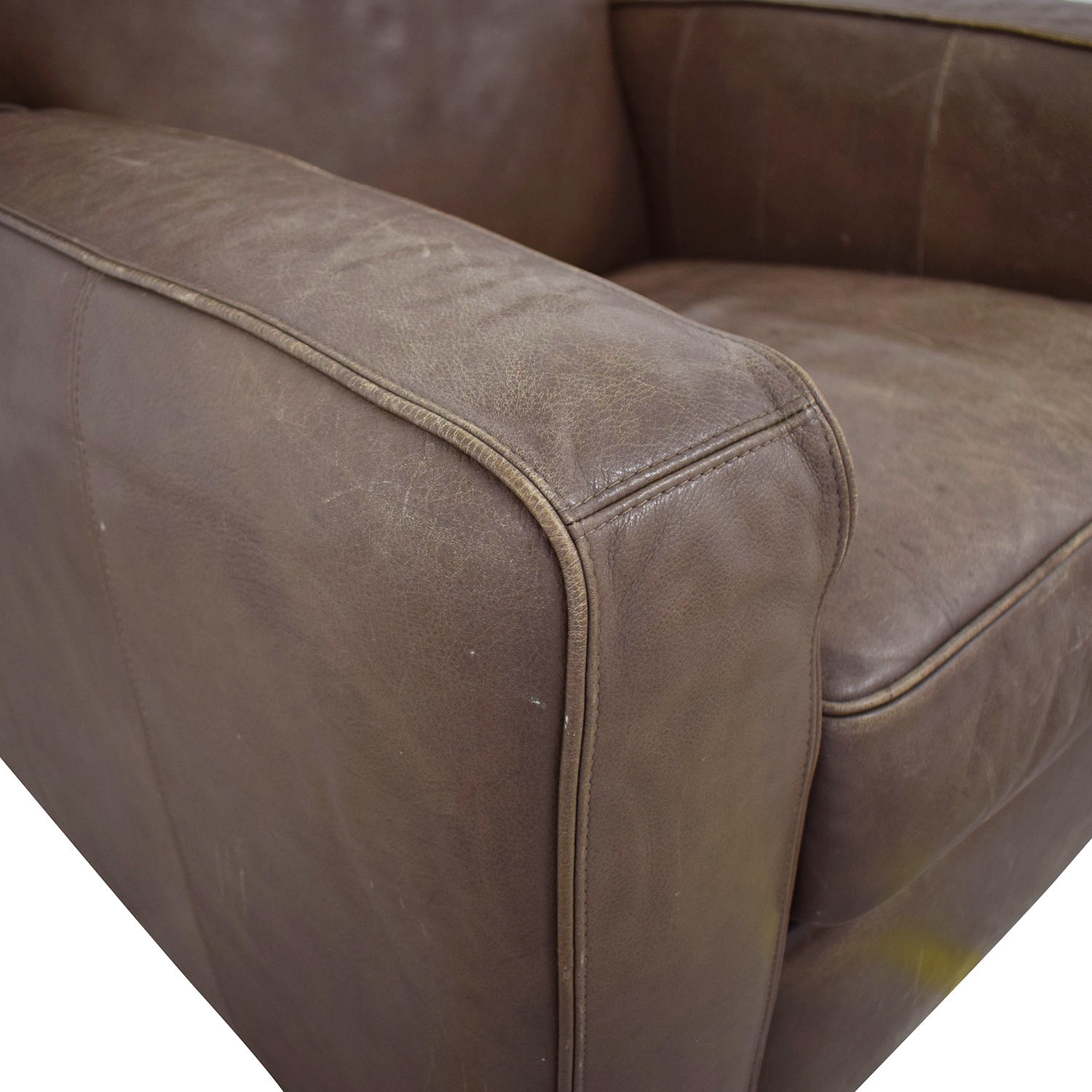 buy Crate & Barrel Leather Recliner Chair Crate & Barrel