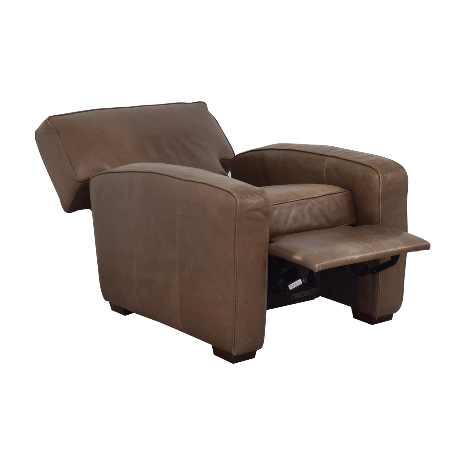 Crate & Barrel Leather Recliner Chair / Recliners