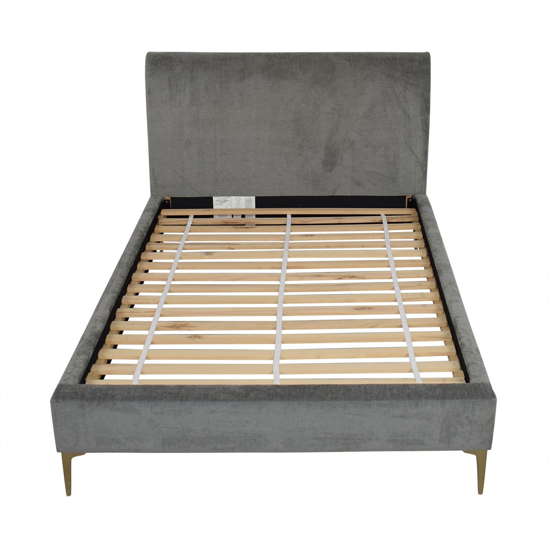 West Elm Andes Deco Upholstered Full Bed / Bed Frames