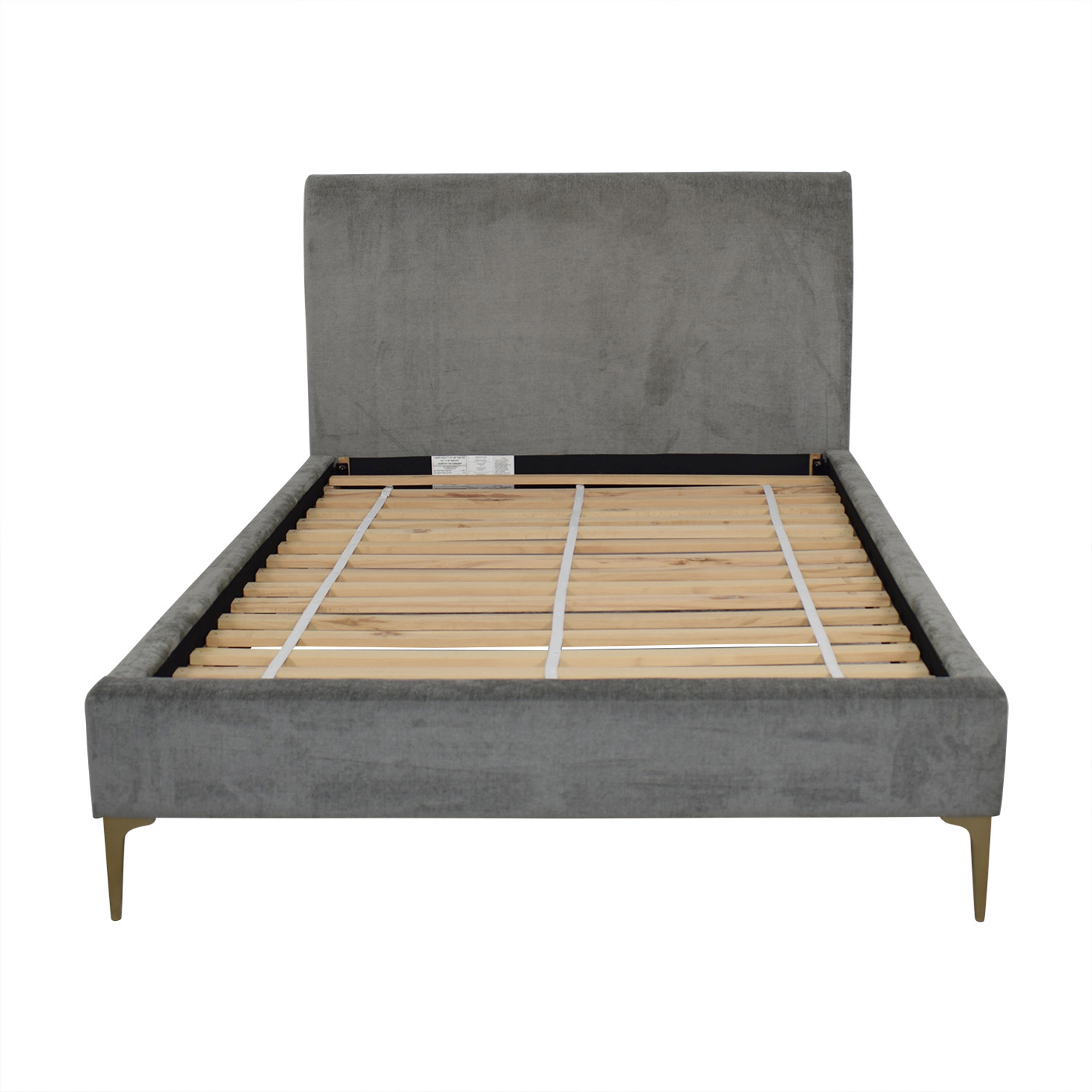 West Elm Andes Deco Upholstered Full Bed / Beds