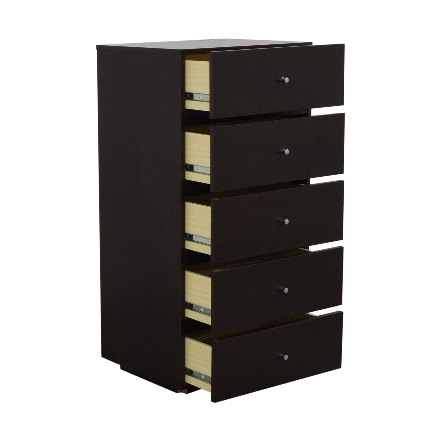 Tall Five Drawer Dresser Storage