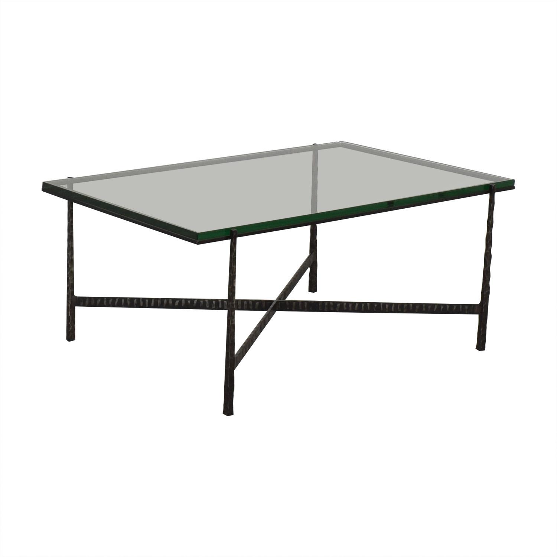 buy Crate & Barrel Glass Top Coffee Table Crate & Barrel