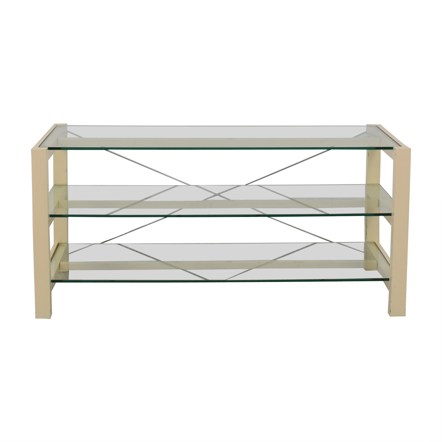 Crate & Barrel Crate & Barrel Glass Media Console nyc