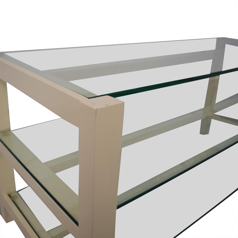 Crate & Barrel Crate & Barrel Glass Media Console Storage