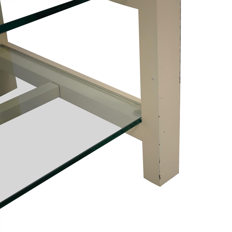 buy Crate & Barrel Glass Media Console Crate & Barrel