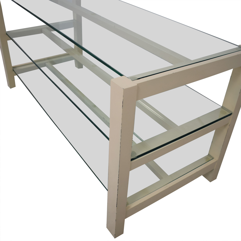 buy Crate & Barrel Crate & Barrel Glass Media Console online