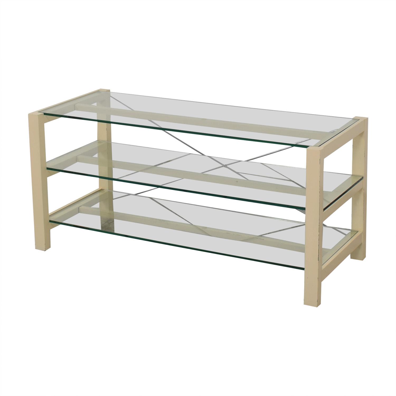 Crate & Barrel Crate & Barrel Glass Media Console price