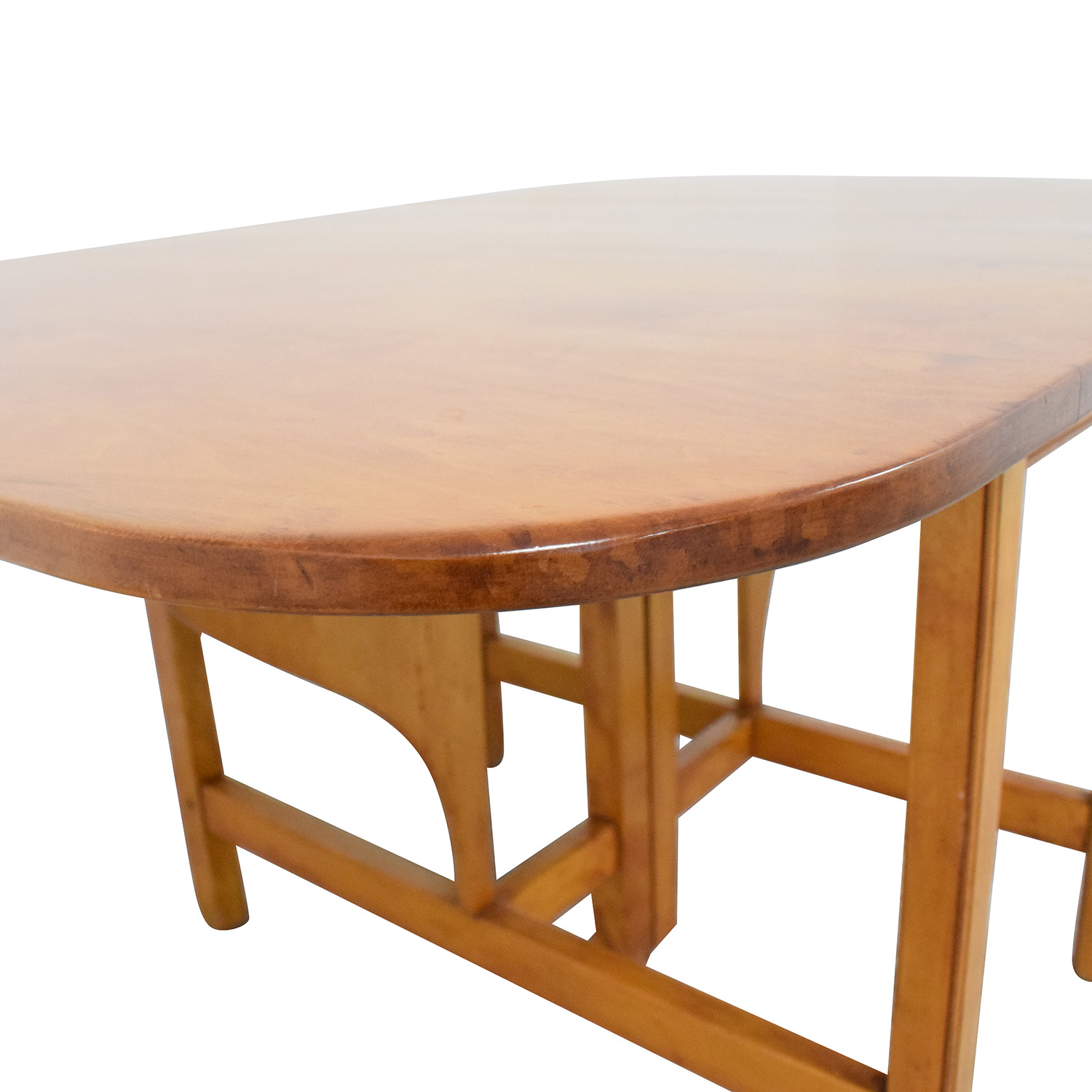 Drop Leaf Solid Maple Dinner Table Tables