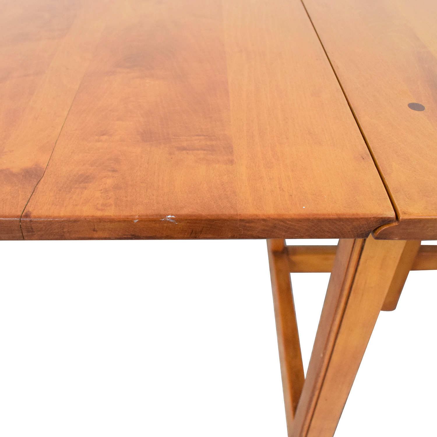Drop Leaf Solid Maple Dinner Table for sale