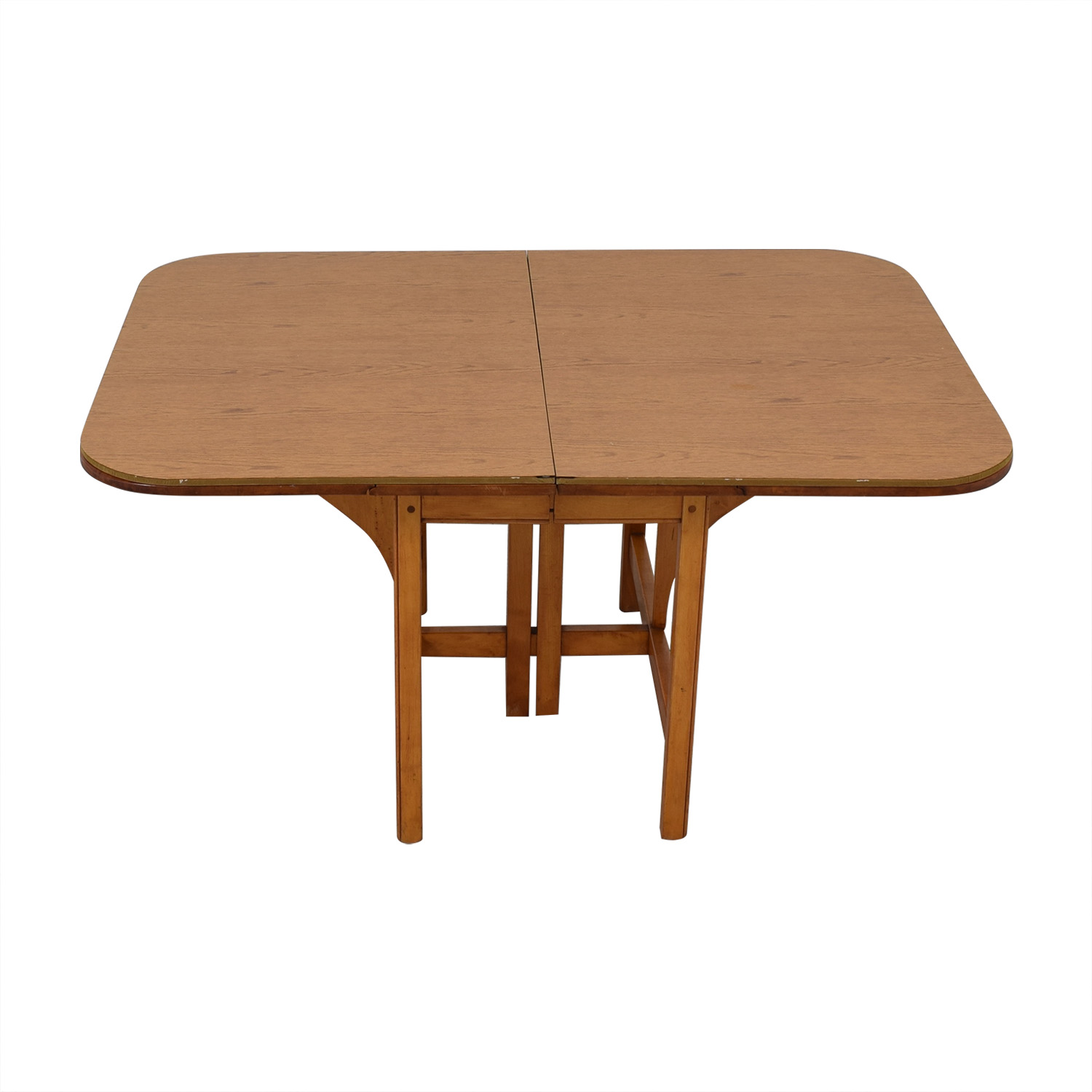 Drop Leaf Solid Maple Dinner Table