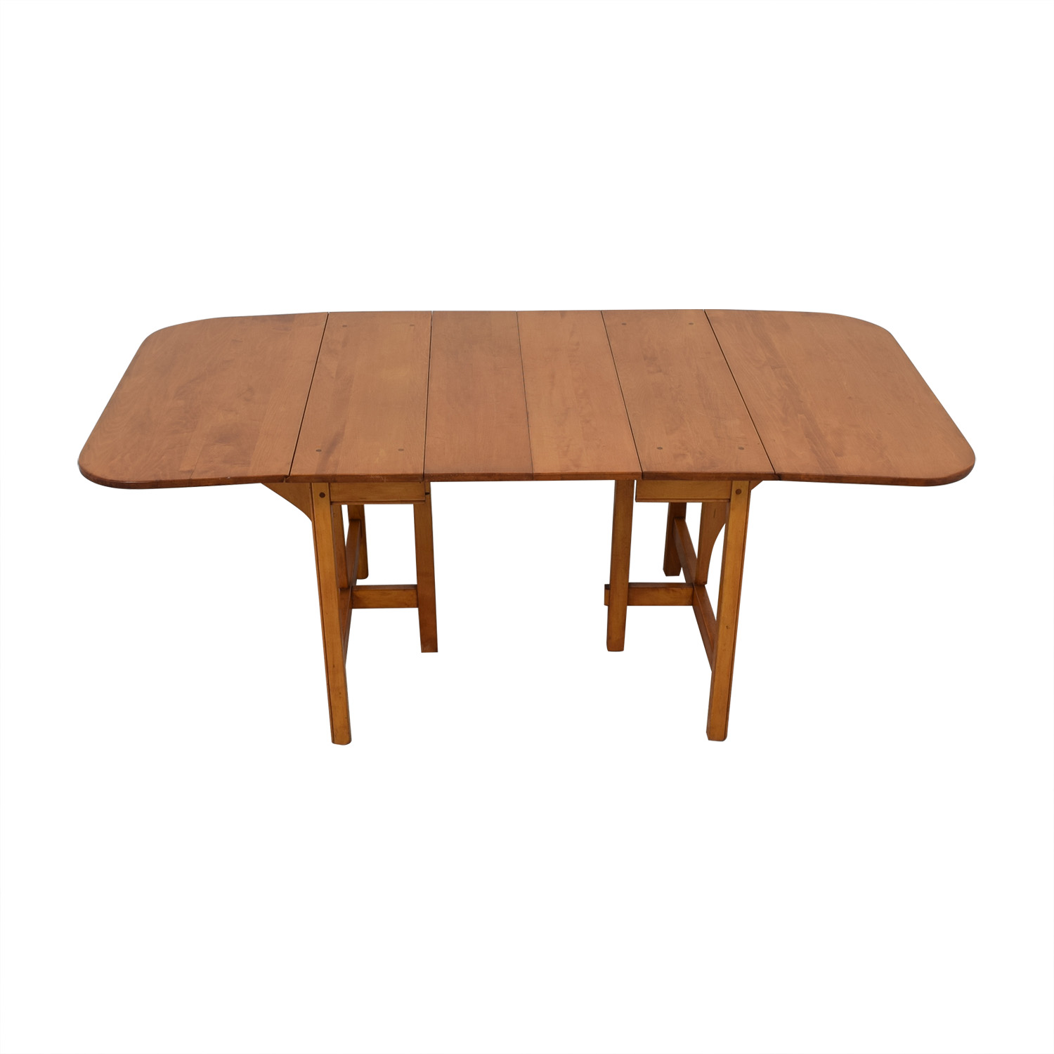 shop Drop Leaf Solid Maple Dinner Table  Dinner Tables