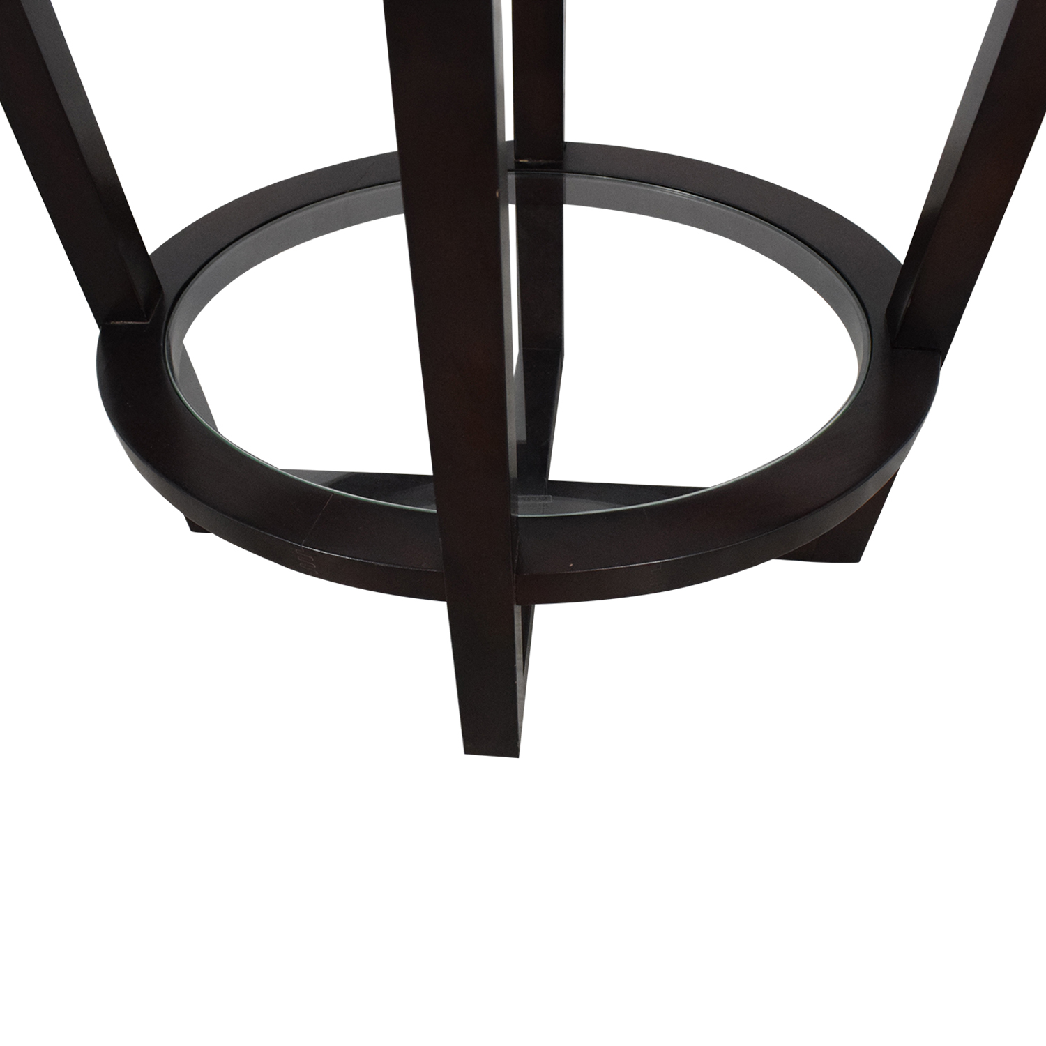 Bloomingdale's Bloomingdale's Glass and Wood End Table Brown