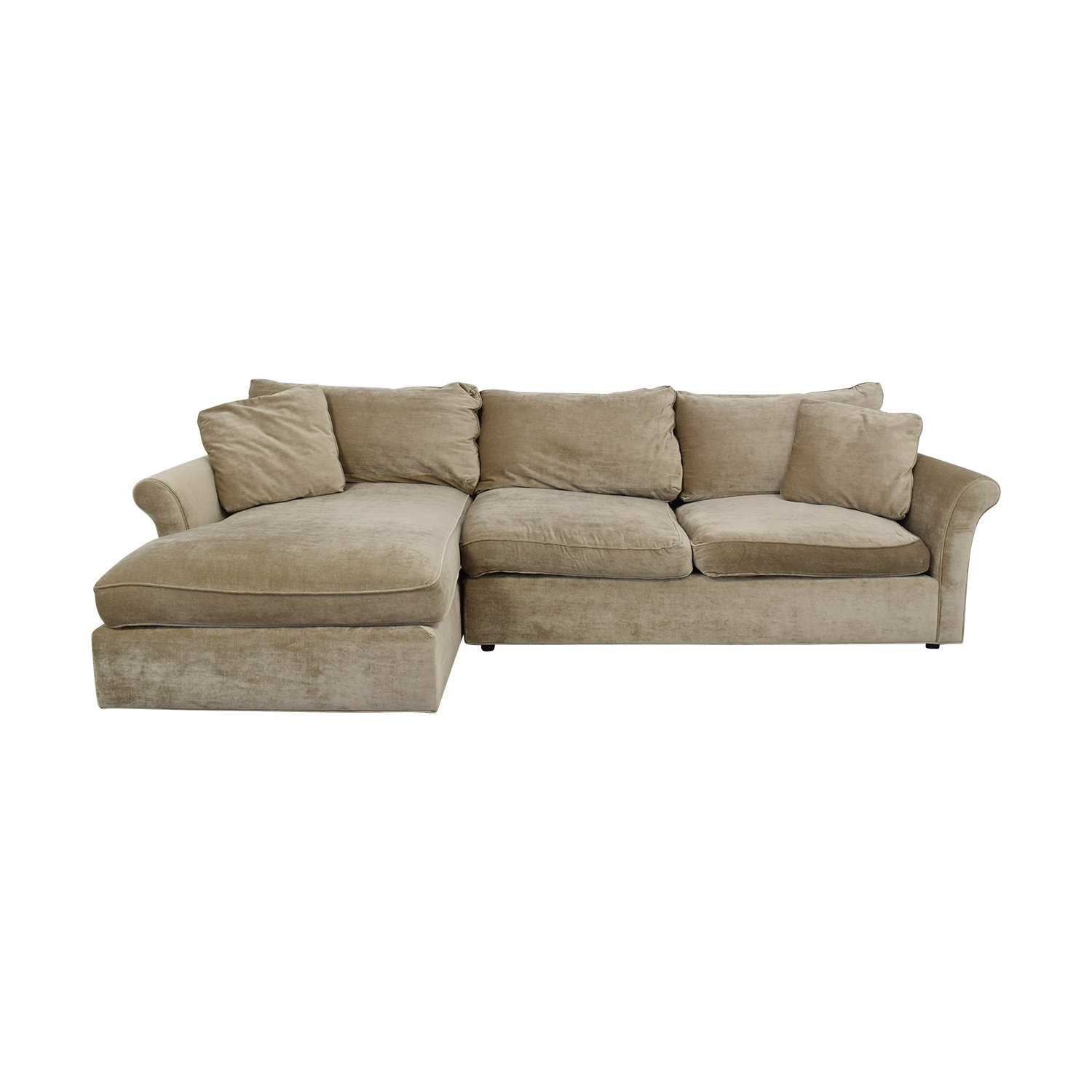 ABC Carpet & Home ABC Carpet & Home Winged Arm Sectional Sofa Beige