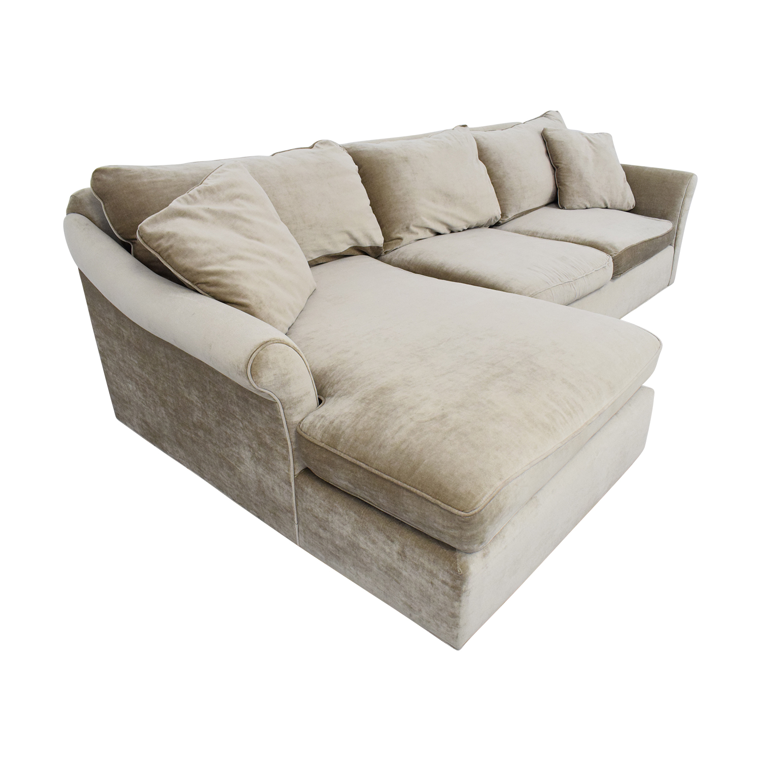 ABC Carpet & Home Winged Arm Sectional Sofa sale