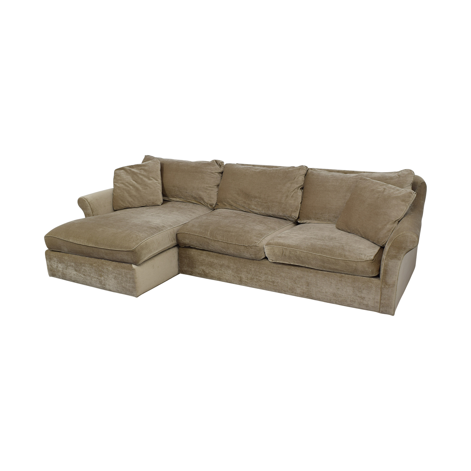 ABC Carpet & Home ABC Carpet & Home Winged Arm Sectional Sofa Sofas