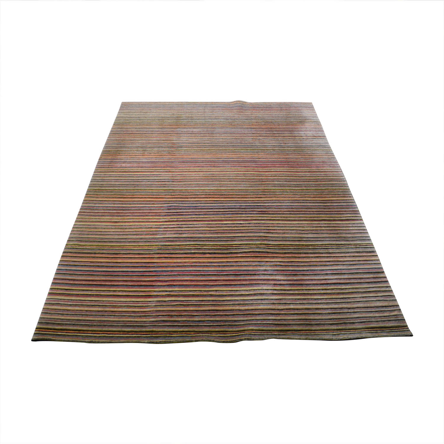 shop BDDW Thin Lines Tibetan Wool Rug BDDW Decor