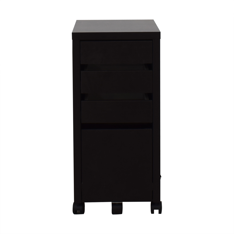 Staples Black File Cabinet sale