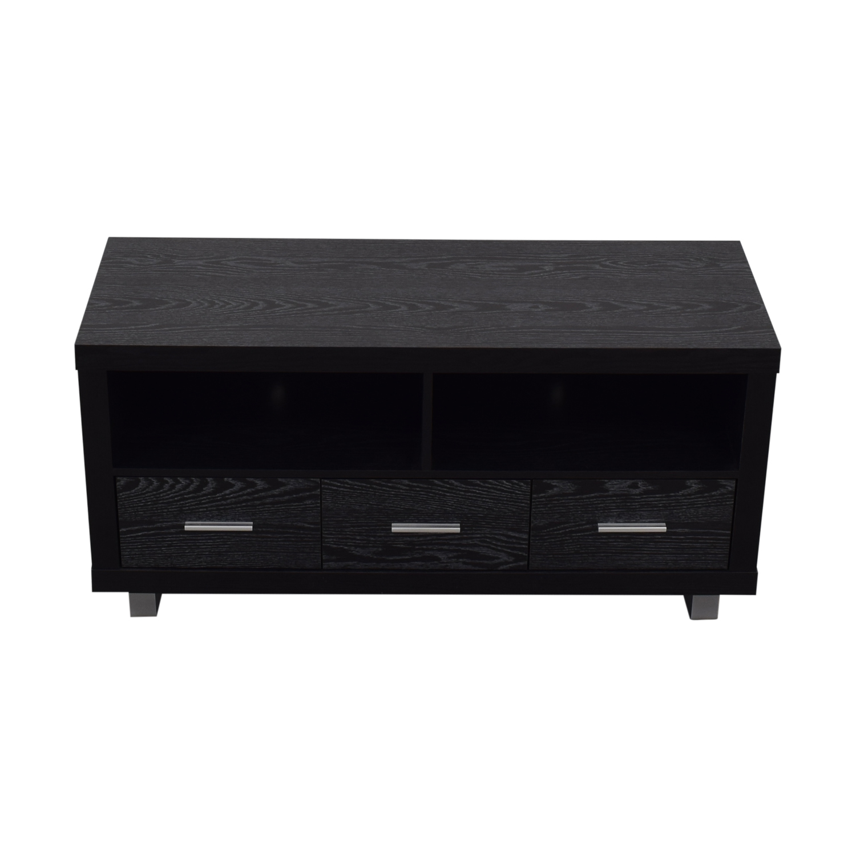 Coaster Black Three-Drawer Media Cabinet Coaster Fine Furniture