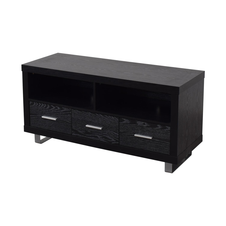 Coaster Fine Furniture Coaster Black Three-Drawer Media Cabinet coupon
