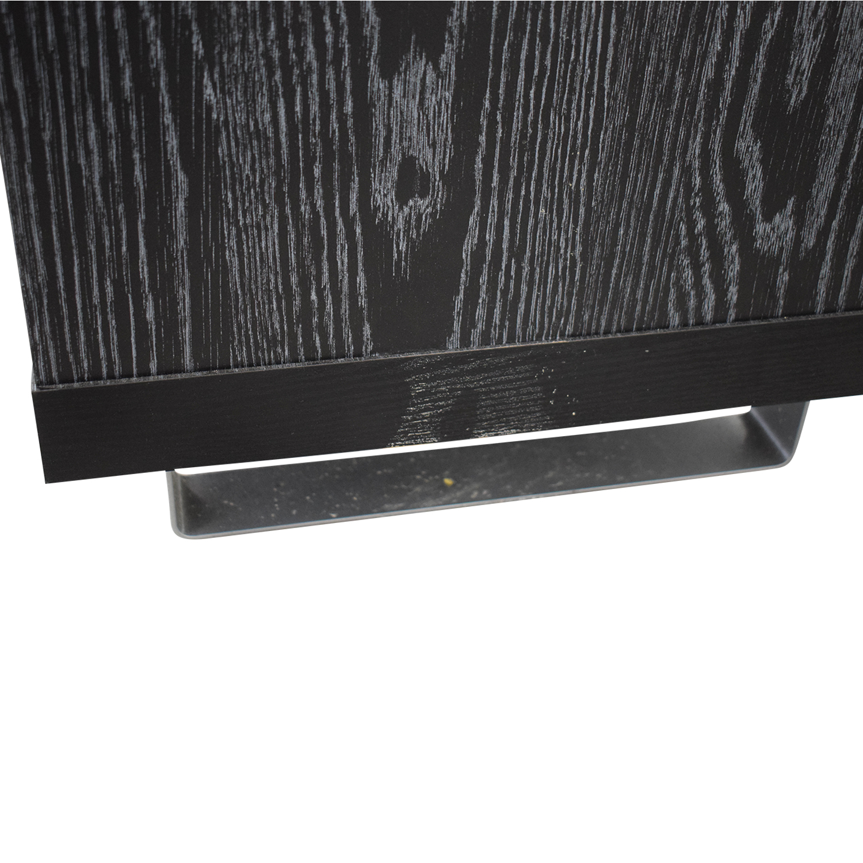 shop Coaster Black Three-Drawer Media Cabinet Coaster Fine Furniture Media Units