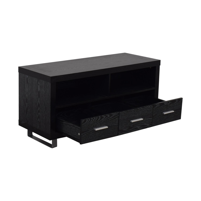 shop Coaster Black Three-Drawer Media Cabinet Coaster Fine Furniture Storage