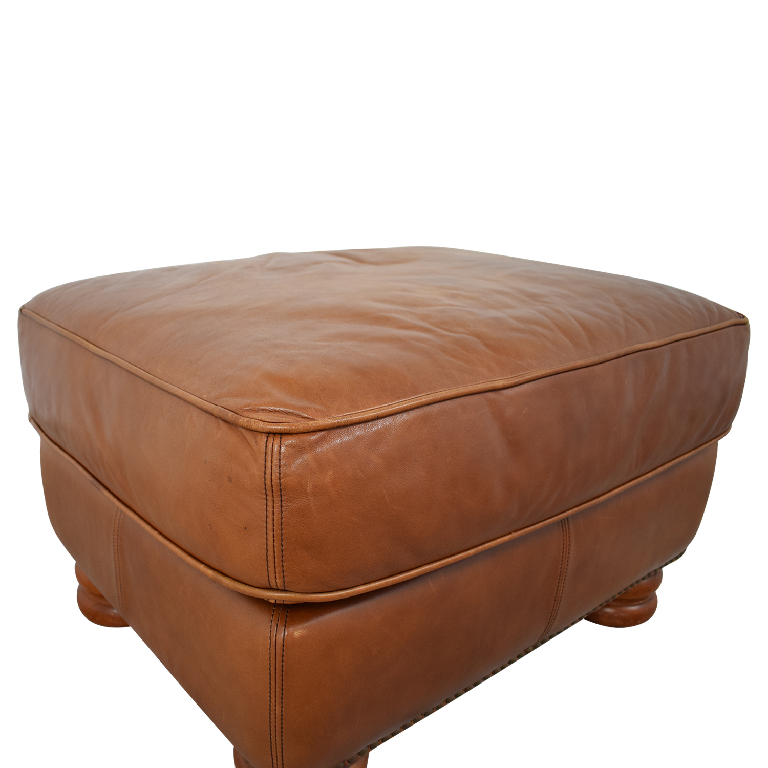 buy Thomasville Brown Leather Ottoman Thomasville Chairs