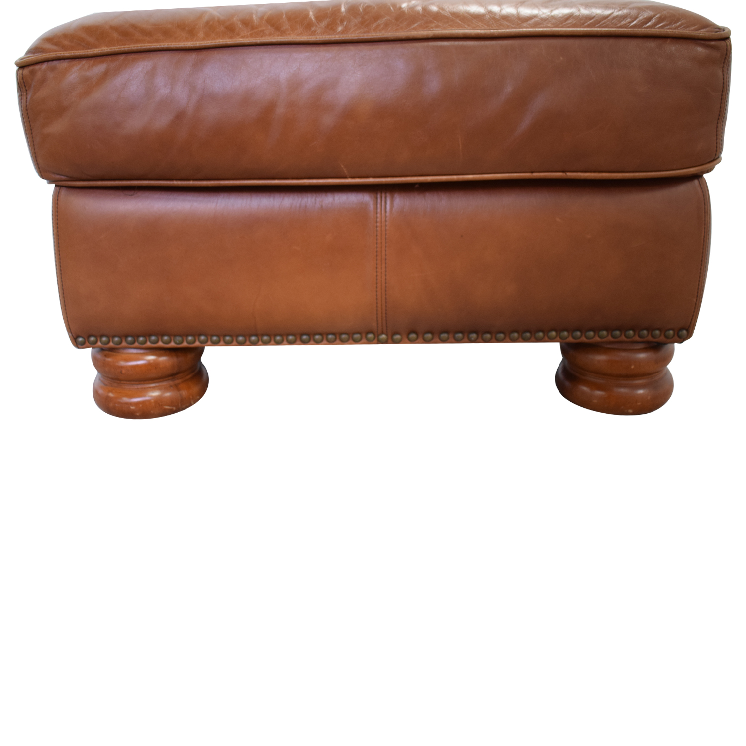 Thomasville Thomasville Brown Leather Ottoman for sale